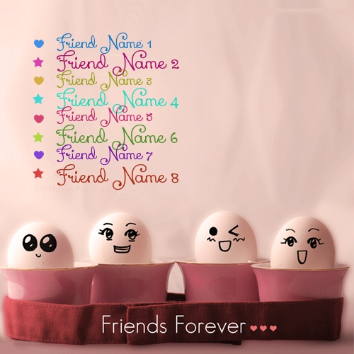 Funny Friends Forever Image With Name