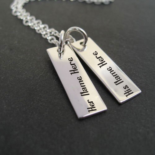 Couple Names Silver Pendant Image With Name