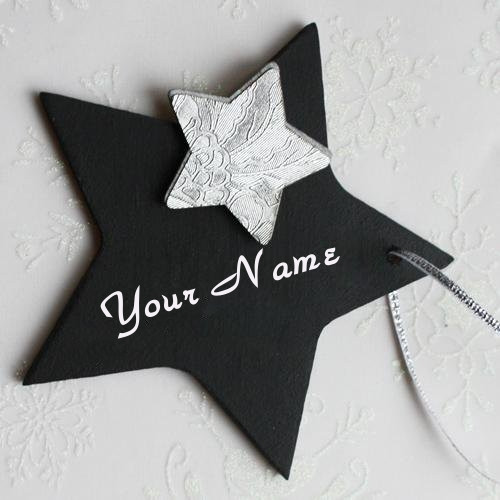 Write Name on Black Star