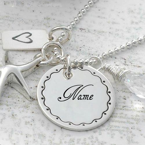 WRITE NAME ON NICK NAME SILVER PENDANT