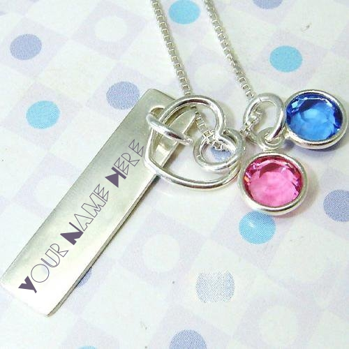 WRITE NAME ON COLORFUL PENDANT
