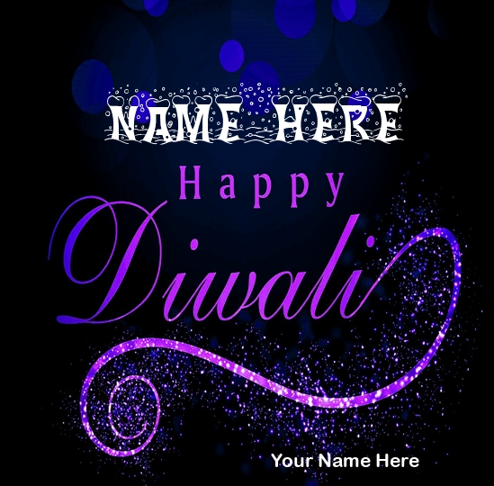 Write Name on Happy Deepavali Picture