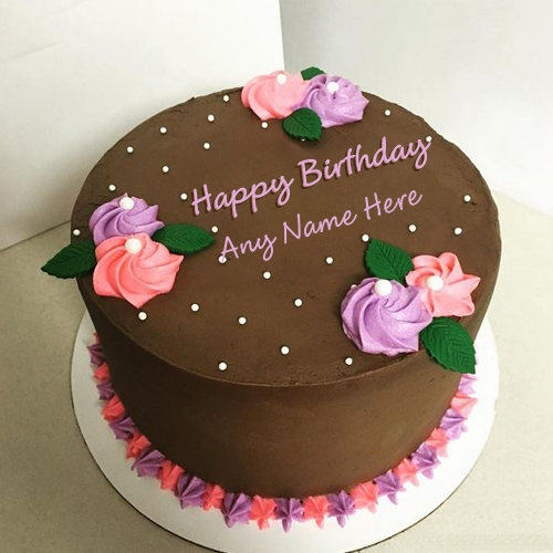 Chocolate Birthday Cakes With Name