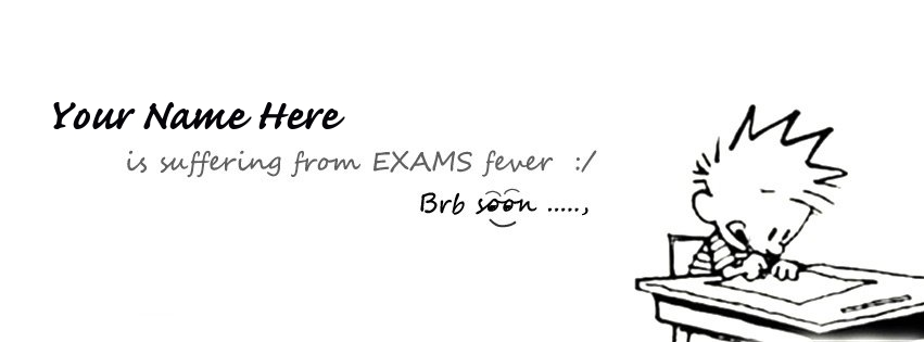 I am suffering from EXAMS fever