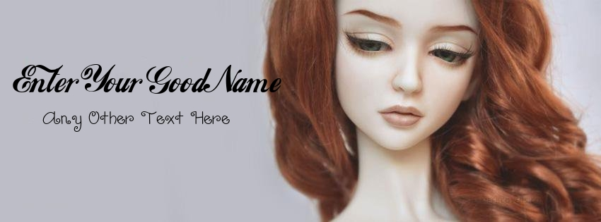 Write Name on Beautiful Red Hair Doll Pix