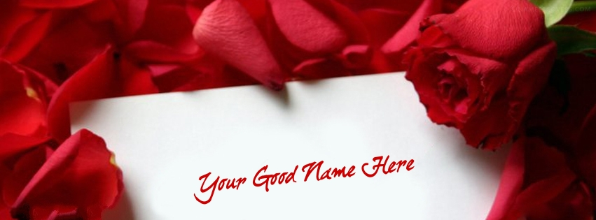 WritRe Name on Rose Note Facebook Cover Pix