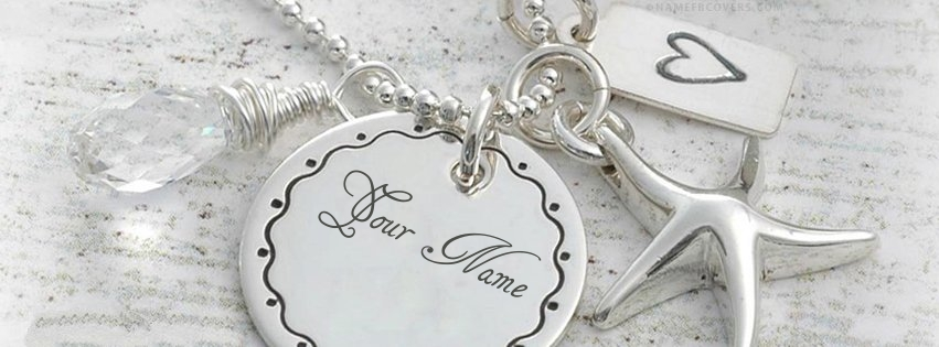 Write Name On Beautiful Silver Pendant Pix