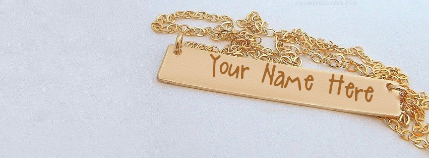 Write Name On Golden Pandent Facebook Cover Pix