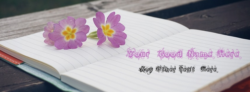 Beautiful Purple Flower Notebook