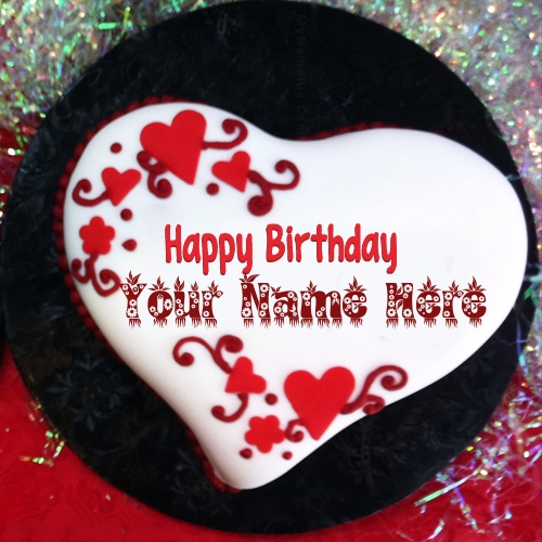 Heart Shaped Birthday Cake Name Picture