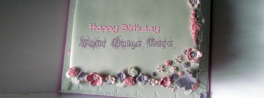 Floral Iced Birthday Cake