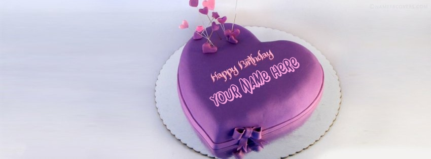 Indigo Heart Birthday Cake