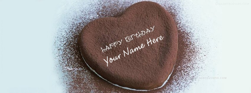 Heart Chocolate Birthday Cake