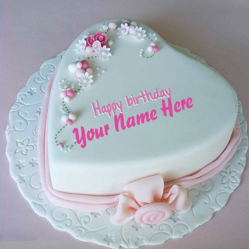Write Name on  Birthday Cake for Lover Picture