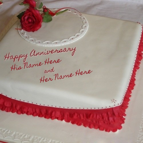 Happy Anniversary Cake Name Picture