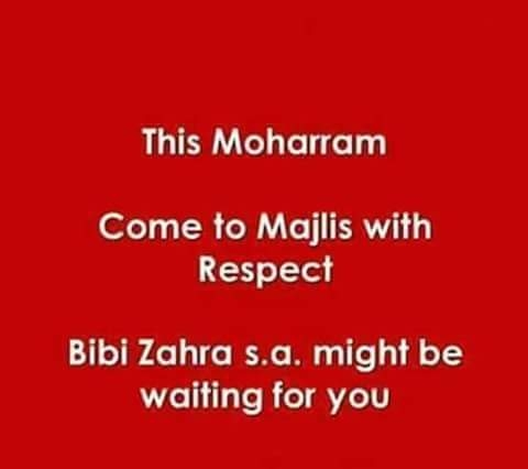 Come to Majlis with Respect