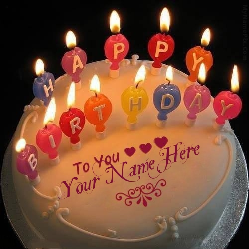 Superb Candles Happy Birthday Cake Name Picture Funny Birthday Cards Online Aeocydamsfinfo